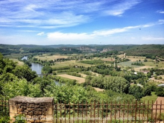 View of the Dordogne from the village of Domme