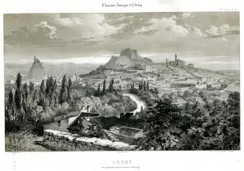 Le Puy - Vue générale prise du château d'Espaly