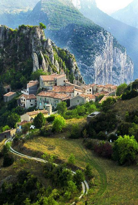 Mountain Village in Rougon, France.