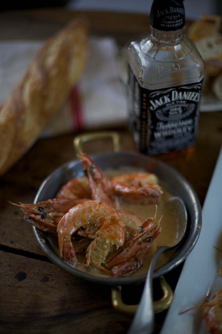 Jumbo shrimp, jack daniels, food and lifestyle photography workshops, bordeaux wine tours