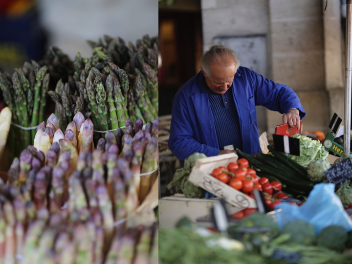 Asparagus man in blue