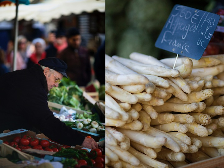 Asparagus on farmers market