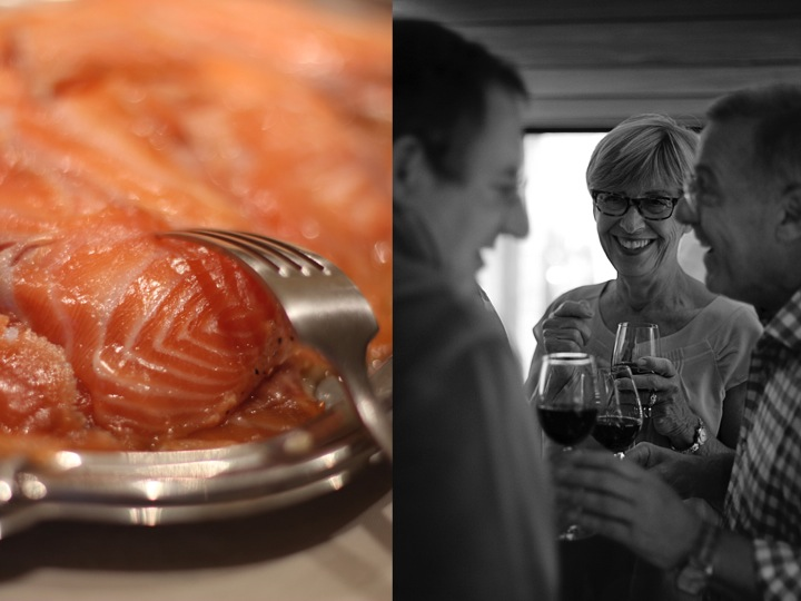 Salmon foodies wine