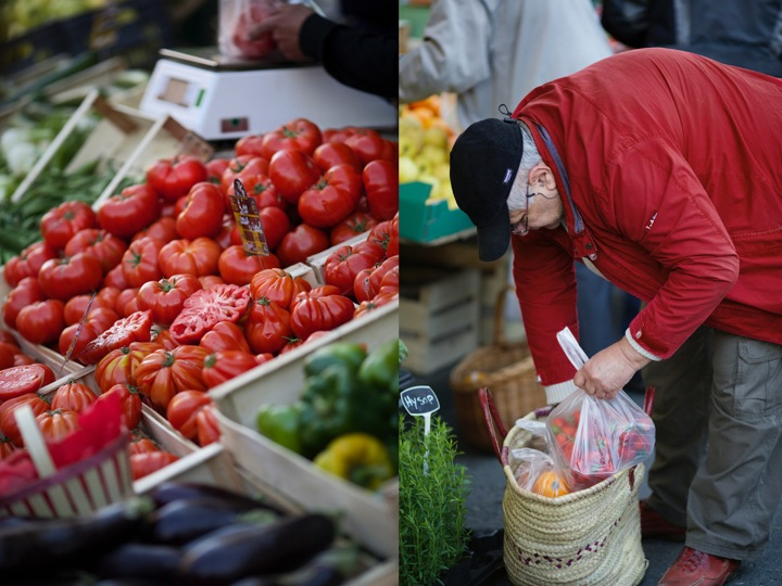Tomatoes and old man