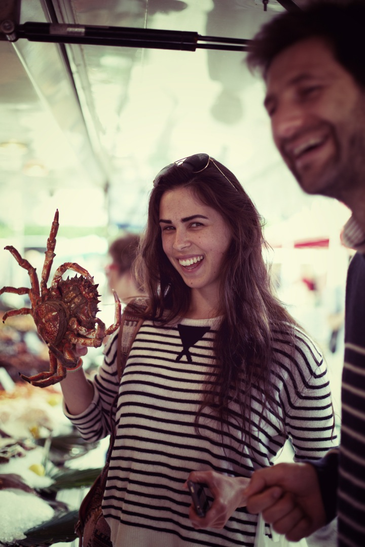 Camille and the spider crab