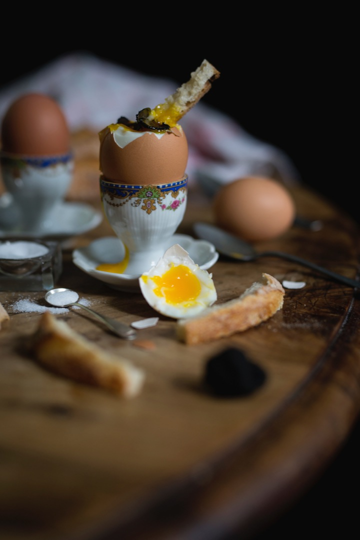 Eggs with truffles